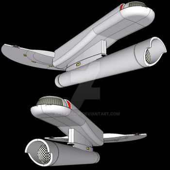 TOS STAR TREK Ship in other views by brstarship