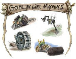 Goblin War Machines by concept-creature