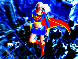 Supergirl by moxiegraphix