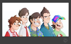 The Guys caricatures new duds by Phil-Crash-Murphy