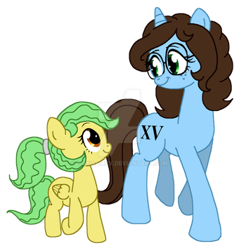 Noxxy and her Filly (Vector) by NoxidamXV