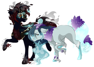 Commission for cyndergirlXP (Multiple Characters) by RhinestoneArts