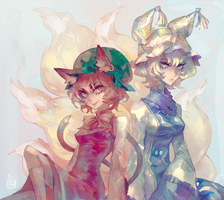 Chen and Ran by Arlmuffin