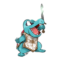 COMM - Totodile x Shadow of the Colossus
