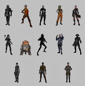 Star Wars: Force Arena - Rebels Characters Pack by KittyInHiding