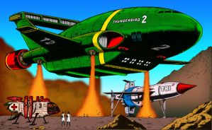 Thunderbirds - It Never Rains COLOURISED by Cotterill23