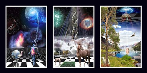 Beginnings Tryptych by Pickles14