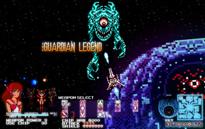 The Guardian Legend in Pixel Purity Desktop Wall by thewoodenboy