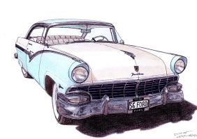 1196 - 1956 Ford Fairlane Victoria by TwistedMethodDan