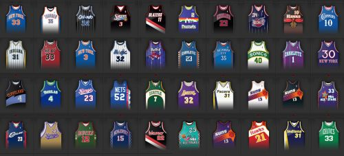 Avatars Jerseys NBA by JFDC