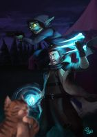 Critical Role (C2) - Caleb, Nott and Frumpkin by pulyx