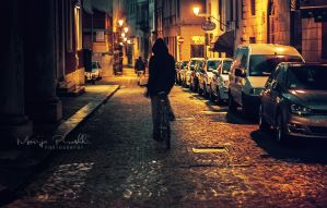 Night rider in Vicenza by Piroshki-Photography