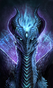 Kyrie the Frost Dragoness by Vaelkyrie