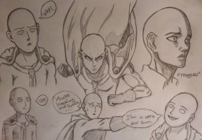 Buncha Saitamas (Sketch) by Max-Manga