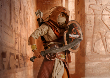 Bayek cosplay Desert Cobra outfit by 14th-division
