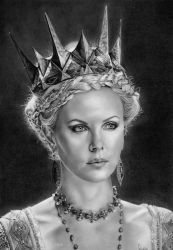 Charlize Theron by ChrisWoottonArt