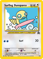 Surfing Dunsparce Jumbo Card