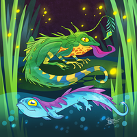 Swamp Creatures by StoicSquid