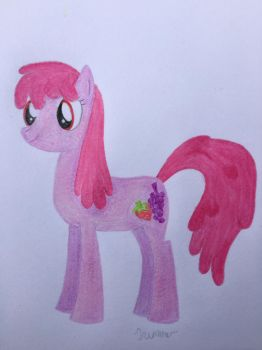 (Commission) Berry Punch Colored Pencils by MLPpencilArt