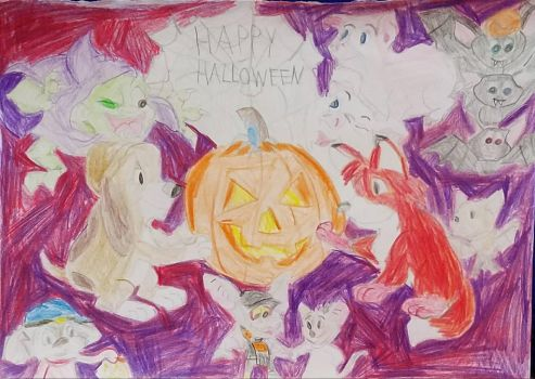 Cartoon Halloween Party Crossover by disneyfangirl774