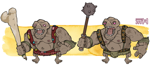 Ogre Character by yellowbouncyball