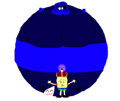 [R]: A small sponge's big blueberry by Spongecat1