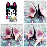 neko ears hair clips by akirepower