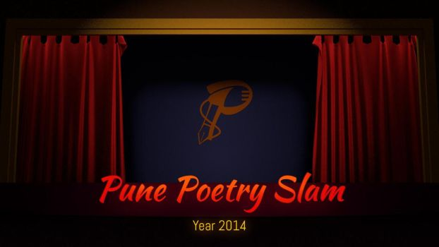Logo and Illustrations of Pune Poetry Slam, 2014 by tushantin