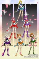 Sonic Girls as Sailor Scouts by ProjectANGEL101