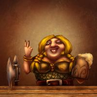 Female Dwarf by Bubaben