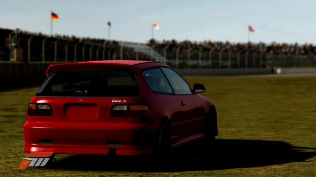Generic Red, Lowrider Civic by Smythface98