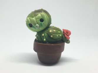 Cryptid-Creations: Barn Owl Cactus sculpture  by AClockworkKitten
