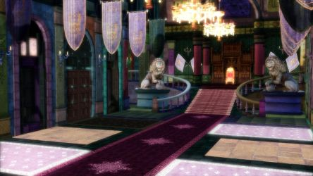 [MMD] Ostrheinsburg Castle Throne Room STAGE by Danicore