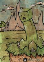 [ACEO] Creeper by Woolifox