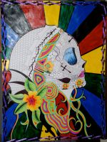 sugar skull profile by letter-unopened