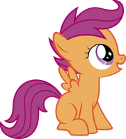 sitting Scootaloo by BaumkuchenPony