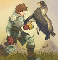 Kinght and Eagle by Jumpei