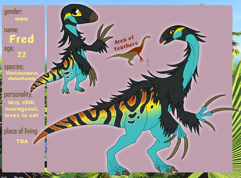 Fred the Therizinosaurus by Qvi