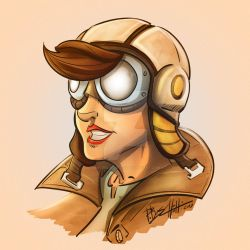 Flygirl Character Concept by Boschetti