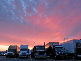 Truck Stop Sunrise by Michies-Photographyy
