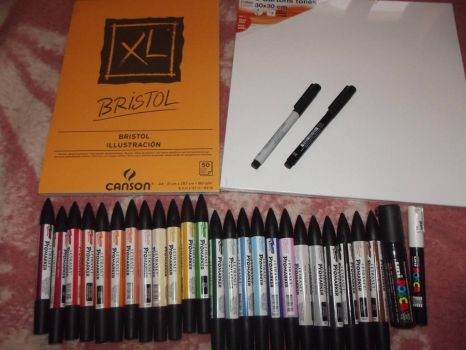 My new stuff (Promarkers) by Pirranah-HyddenSky