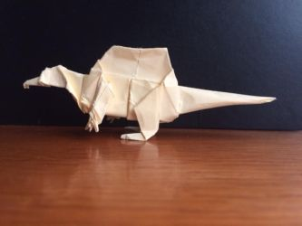 Origami Spinosaurus by casielles