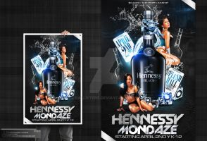 Hennessy Mondaze Party Flyer by Gallistero