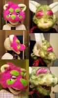 recycled fursuit head by PickleMittens