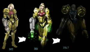 2651 Samus Evolution by Spoon02