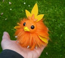 Tiny Torchic - handmade Pokemon Artdoll