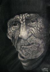 Old Age graphite portrait by gdvectors