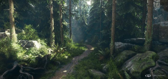 CryEngineV - Lighting and forest study 2 by MadMaximus83