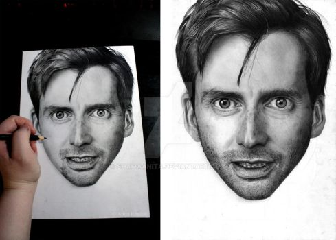 David Tennant - Work in progress 2 by Red-Szajn