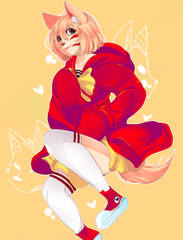 little wolf red riding hood by abunnie